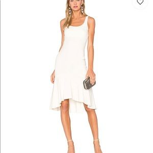 Amanda Uprichard Parker Dress in Ivory.